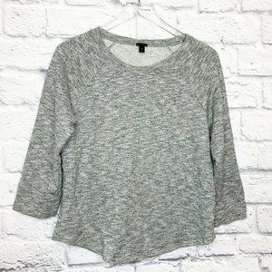 J Crew M Heathered Gray Loomknit Sweatshirt